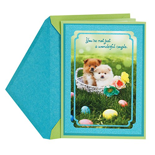 Hallmark Easter Greeting Card for a Special Couple (Cute Puppy Dogs, Wonderful People) (Gift Dog Puppy Basket)