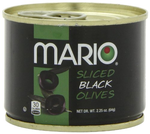 Mario Camacho Foods Sliced Black Olives, 2.25-Ounce Cans (Pack of 8)