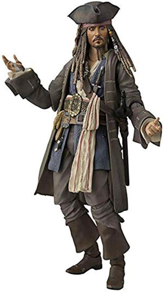 JHZTOY Piratas del Caribe Capitán Jack Sparrow Caja de la Figura ...