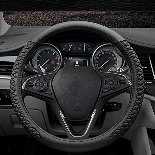 Hubcaps Classic Car - GuanRen Car Steering Wheel Cover Four Seasons Universal Feel Comfortable Wear-Resistant Anti-Slip (Color : Black Classic Models)