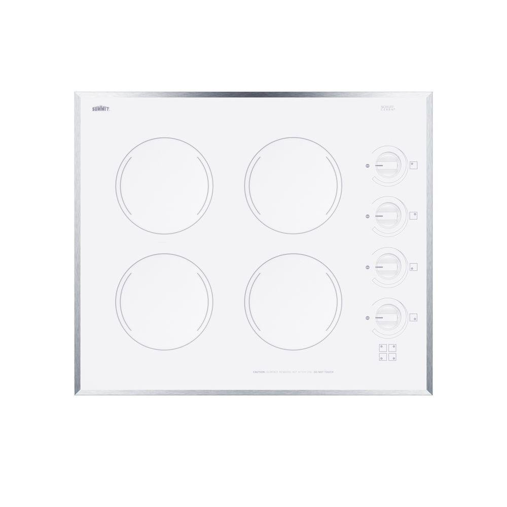 Amazon.com: Summit cr424wh Electric Cooktop, color blanco ...