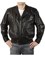 Simons Leather Men's Easy Fit Blouson Leather Jacket