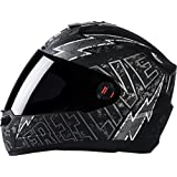 Steelbird Helmet SBA-1 Free Live with Smoke Visor and Matt Finish (Medium 580MM, Black with Grey)