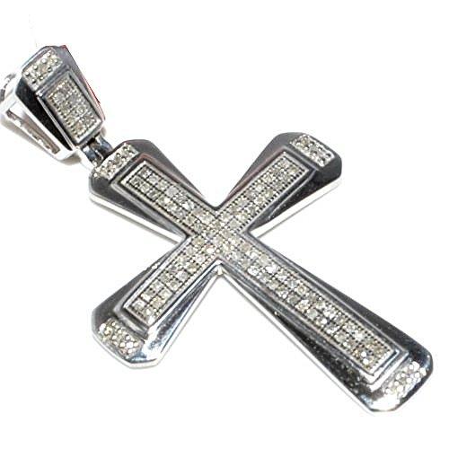 mens diamond cross pendant amazoncom