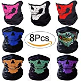 GAOGE Motorcycle Face Mask,Skull Bandana Mask,Dust-proof Windproof Motorcycle Bicycle Bike Face Mask for Cycling, Hiking, Camping, Climbing, Fishing, Hunting, Motorcycling,Camping 8 Pack