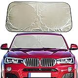 : Flyday Auto Car Sun Shade Foldable Windshield - Blocks UV Rays Sun Visor Protector, Sunshade To Keep Your Vehicle Cool, Fits Trucks SUVs Vans(Standard 63 x 33 inches)