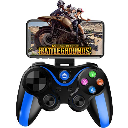 (Mobile Gamepad Controller, Megadream Key Mapping Gaming Joysticks Trigger for PUBG/Rules of Survival & More Shooting Fighting Racing Game, for 4-6 inch Android iOS Phone - Direct Play)