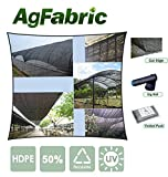 Agfabric 50% 6.5x20ft Sunblock Shade Cloth for Plant Cover, Greenhouse, Barn or Kennel, Pool, Pergola or Carport, Cut Edge UV Resistant Fabric with Free Fabric Clips