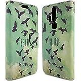 ZTE Axon Pro Wallet Case, CoverON® [CarryAll Series] Flip Folio Card Slot Pouch Cover Screen Protector + Strap Case For ZTE Axon Pro - Free Bird Design