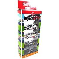 Opo 10 – Set met 5 miniatuurauto's Rallye WRC Norev 3 inch (ca. 8 cm), compatibel met Renault Peugeot Citroen (311691D)