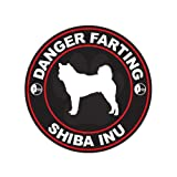 Danger Farting Shiba Inu - Color Sticker - Decal - Die Cut
