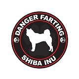 Danger Farting Shiba Inu - Color Sticker - Decal - Die Cut