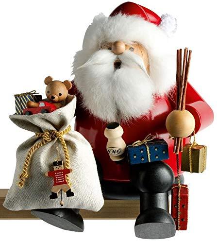 KWO Large Sitting Santa German Christmas Incense Smoker Handcrafted in ()