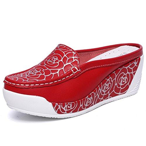 Verano pendiente con zapatillas baotou fresco/Zapatos perezoso perezoso de la manera de la manera E