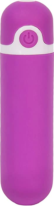 Pure Love Rechargeable Vibrating Bullet Purple, Waterproof, Multispeed and Multifunction, Adult Sex Toy