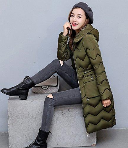 algodón de Verde acolchado de Ejercito capa de la casual COMVIP Capucha Mujeres caliente chaqueta abrigo 60CwAZ8q