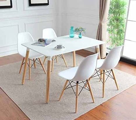 Remarkable Kosy Koala Charles Ray Eames Inspired Eiffel Dsw Retro Design Wood Style Dining Table And 4 Chairs For Office Lounge Dining Kitchen Room Furniture Pabps2019 Chair Design Images Pabps2019Com