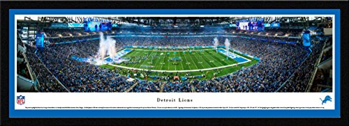 Detroit Lions - 42x15.5-inch Single Mat, Select Framed Picture by Blakeway Panoramas