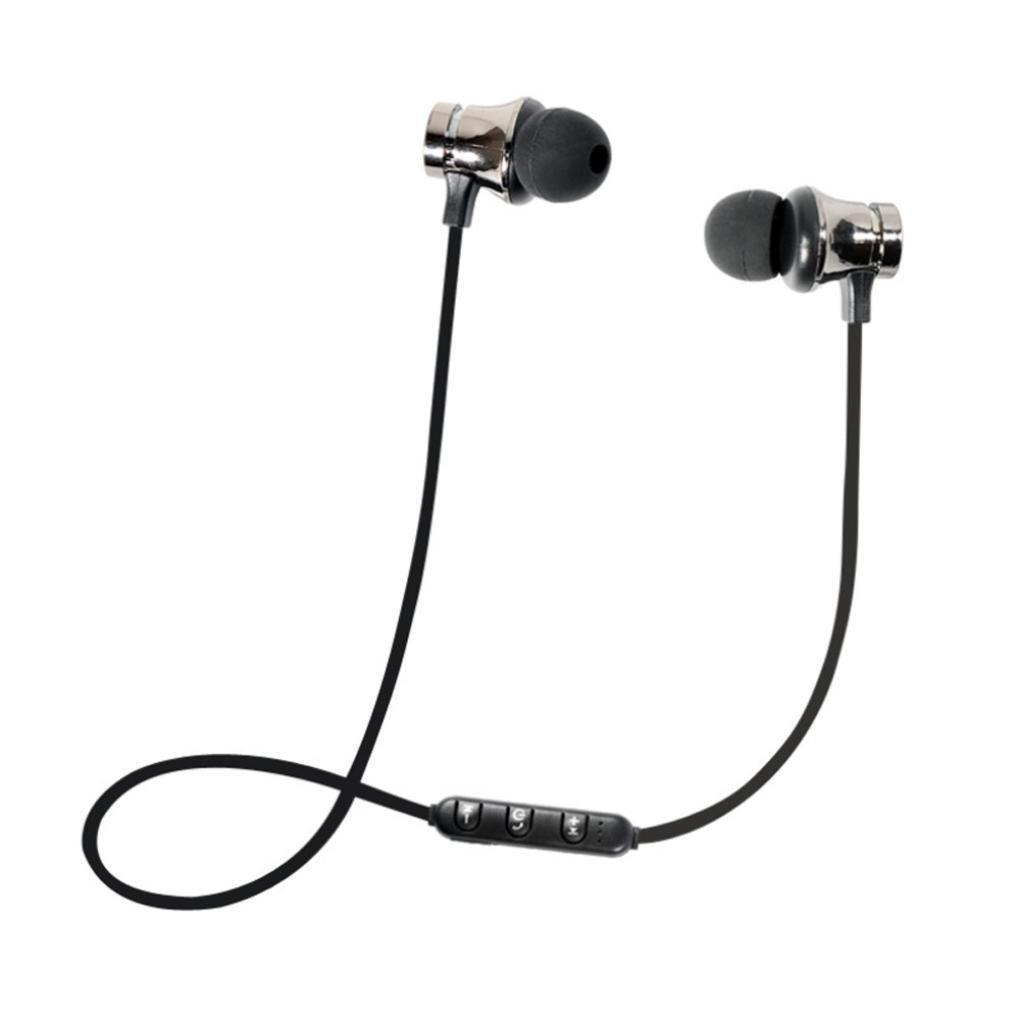 fasloyu BT 4.1Écouteurs Stéréo sans Fil magnétique in-Ear écouteurs Casque écouteurs Sports, Silver, Taille M