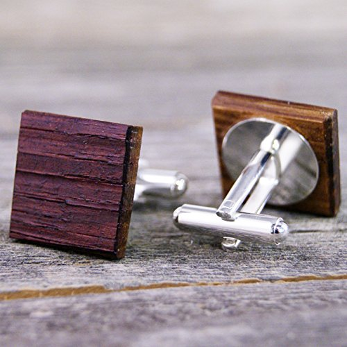 Wine Barrel Oak Wood Cufflinks - Perfect gift for the Groom and Father of the Bride! by Donald J Fuss Fine Woodworking