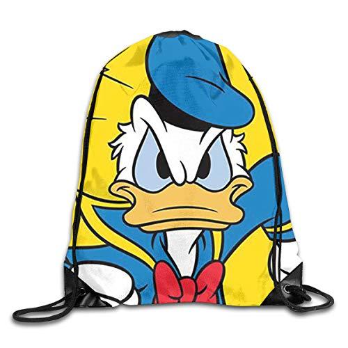 - WSXEDC Drawstring Bag Running Donald Duck Durable Backpack for Yoga Sport Travel
