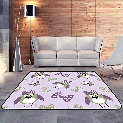 Carpet Flooring,Animals Cute with Birds Series of Animals and Insects.W 63
