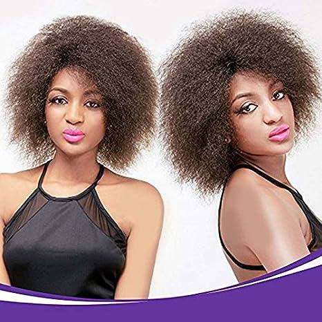 synthétiques court bouclés perruque Afro