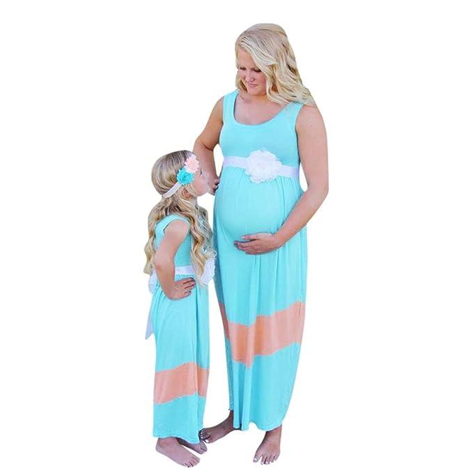 Keepwin Vestidos para Mujeres, Vestido Sin Mangas del Chaleco De La Maternidad De La Maternidad