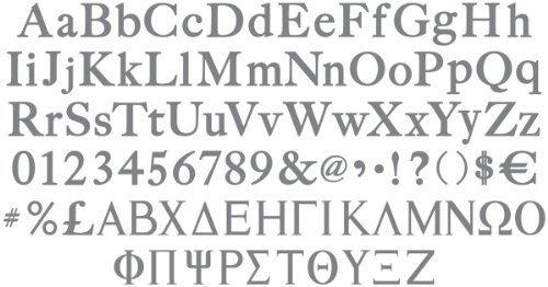 (Sizzix eclips Cartridge - Greek & Sassy Serif Alphabets)