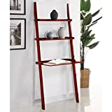 Mintra Cherry Finish 3-Tier Laptop Book Shelf