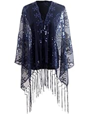 Shawl and Wrap for Evening Dresses, Glitter Wedding Party Bridal Scarfs for women