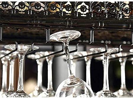 Estantería de vino Estante del vino que cuelgan del cubilete estante de la barra de vino rack creativa del vidrio de vino estante de la barra estante del vino boca abajo colgando decoración Copa estan