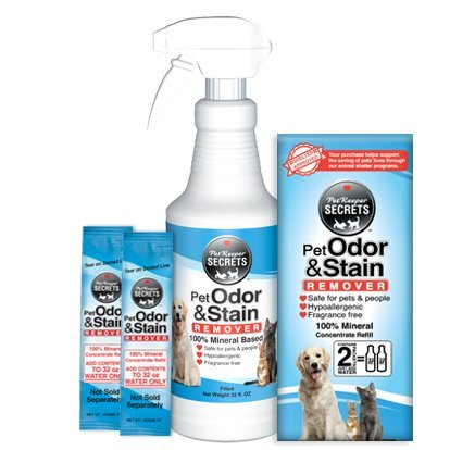 Concentrate 0.5 Gallon Bottle (PetKeeper Secrets Odor Stain Remover 2Pack, 64oz)