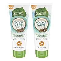 Seventh Generation Baby Lotion with Moisturizing Coconut Care, 7.6oz , 2 Coun...