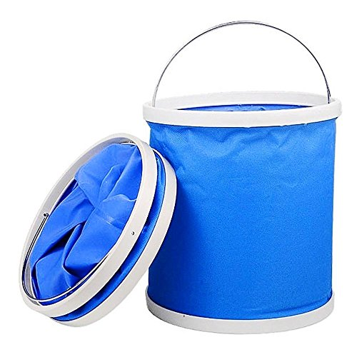 Price comparison product image Max Storage Bucket | Multifunctional Collapsible Folding Water Bucket with 3 Gallon Capacity | Watertight Foldable Portable Outdoor Camp Sink Picnic Car Wash Basin Fishing Travel | Vibrant Blue | 1064