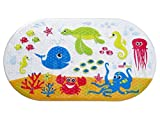 Salinka Ocean Anti Slip Baby Bath Mat - Phatalates and Lead FREE - Non Slip Mat for Bathtub and Shower - Durable Mildew Mold Resistant PVC - Handy Bag for Easy Transport - Free Ebook