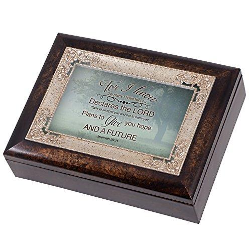 Misty Meadow Tree Jeremiah 29:11 Italian Design Jewelry Music Box Plays Amazing Grace