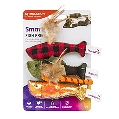 Cat toys with catnip SmartyKat Fish Friends Crinkle and Catnip Cat Toys [tag]