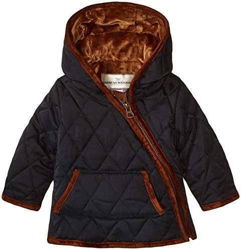 Widgeon Baby Nylon Quilted Hooded Asymmetrical Jacket, Qpn/Pink, (Widgeon Saras Prints)