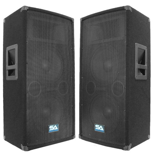 Seismic Audio 100T Pair of Dual 10-Inch PA DJ Club Speakers 600 Watts Pro Audio Band by Seismic Audio