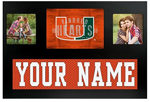 Miami Hurricanes NCAA Custom Jersey Nameplate and Logo Picture (Ncaa Picture Frame)