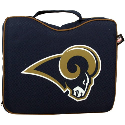 NFL Lightweight Stadium Bleacher Seat Cushion with Carrying Strap, St. Louis Rams (St Rams Stadium Louis)