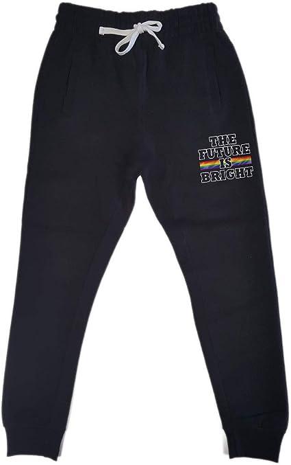 Mens The Future is Bright KT T15 Black Fleece Jogger Sweatpant Gym Shorts X-Large Black