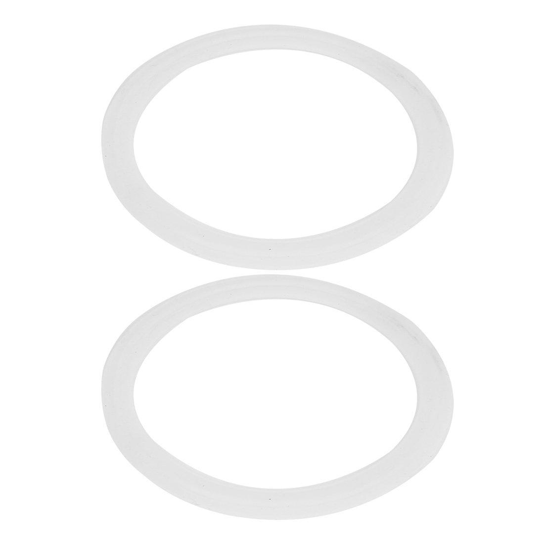 sourcingmap/® 2Stk 67mm Silikon Dichtung 2.5 Tri Klemme Sanit/äre Rohr Formst/ück Beschl/äge de