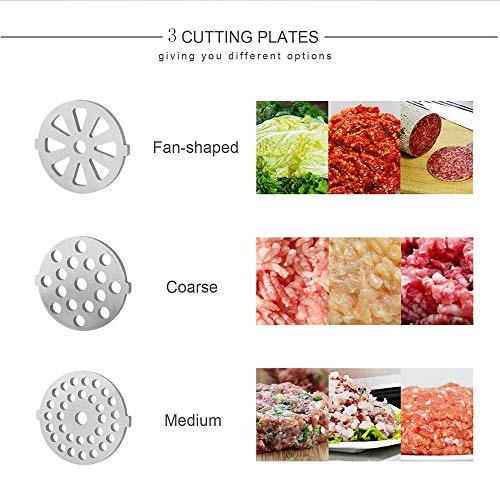 Electric Meat Grinder Stainless Steel and Duty Household Sausage Stuffer Food Processor Grinding Mincing Machine with Kubbe Attachement-Ksun 2800W Heavy Duty Mincer(Red) ETL Approved by Ksun (Image #1)
