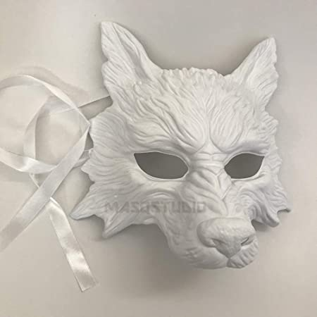 Large Silver Mask Wolf Halloween Fancy Dress Costume Ladies Mens Masquerade Ball