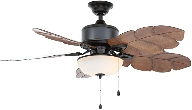 Home Decorators Collection Palm Cove 52 In Natural Iron Ceiling Fan Amazon Com
