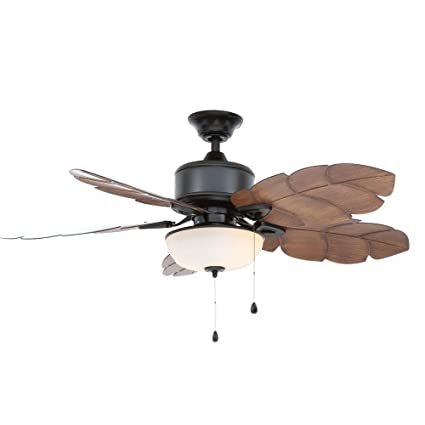 Home decorators collection palm cove 52 in natural iron ceiling fan