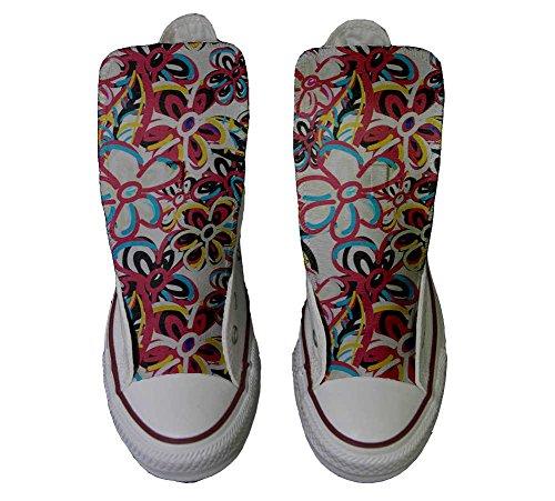 coutume artisanal chaussures Abstract Converse produit All Star Hi Floreal Personnalisé Sneaker et Unisex Italien Imprimés wSFq0W