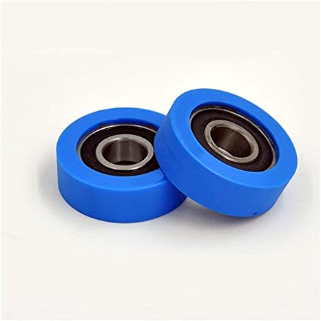 2Pcs NO-LOGO Durable PU 6202 Polyurethane Covered Bearing 15x43x15mm Shaft 15mm PU620243-15 Urethane Cover PU6202 Bearings
